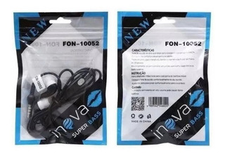 Fone De Ouvido Com Microfone Inova Fon-10052
