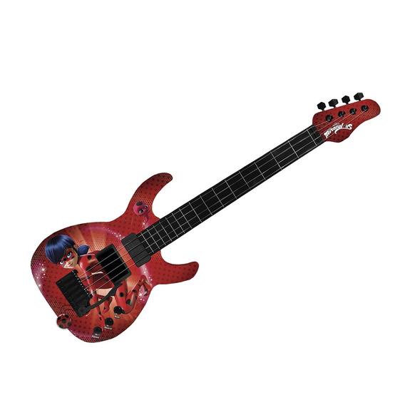 Guitarra Infantil Fun 8107-9 Miraculous Ladybug Vermelha