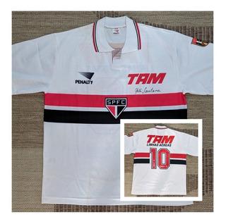Camisa Spfc 1993 _ Raí _ Autografada Telê Santana