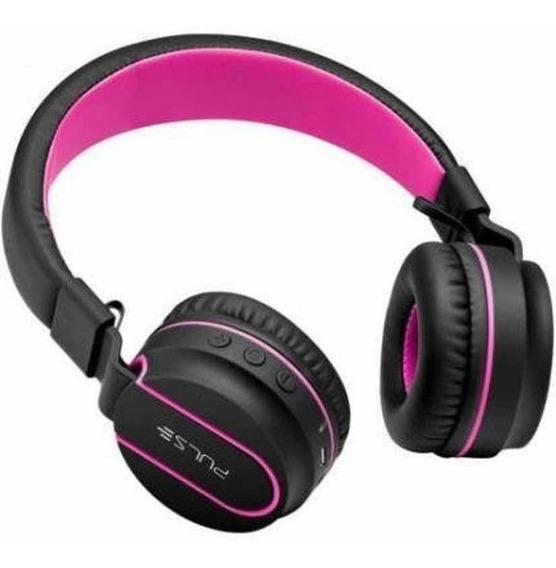 Pulse Fone De Ouvido Fun Bluetooth Series Preto-rosa Ph216