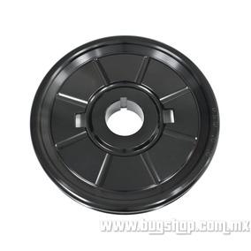 Polea De Aluminio Diseño Original Negra Empi