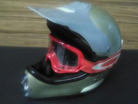 Capacete Para Moto De Trilha Asw Com Óculos Tam 58