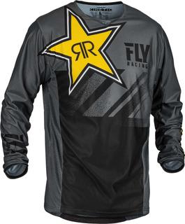 Jersey Fly Racing Kinetic Rockstar Mesh Gris/negro Md