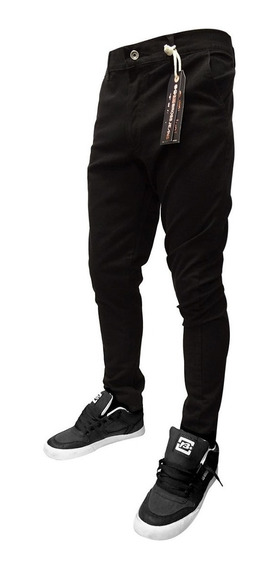 Pantalon Bross Hombre Bolsillo Chino Negro- Hombre