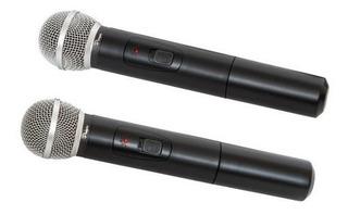 Microfono Inalambrico Doble Parquer Profesional Vhf Cuota