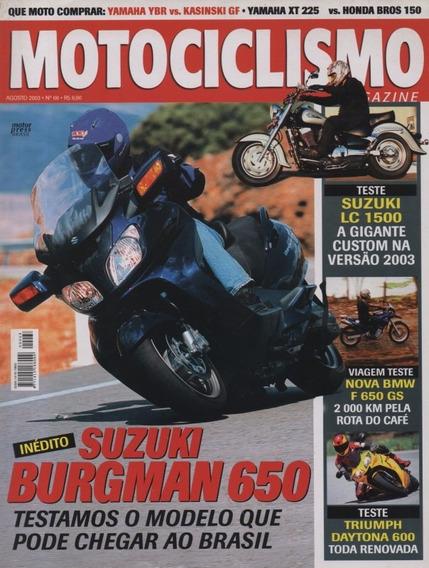 Motociclismo N°68 Suzuki Burgman 650 Triumph Daytona 600 Bmw