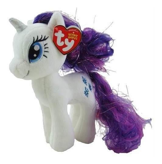 My Little Pony Ty Rarity Pônei Unicórnio Branco 20 Cm - Dtc