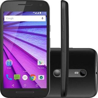Motorola Moto G3 16gb 4g Dual Preto/azul Seminovo**