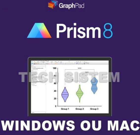 Graphpad Prism 8 (novo) 2019 Win Ou Mac