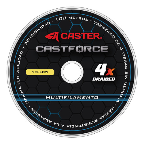 Imagen 1 de 6 de Multifilamento Caster Castforce 4x 0.18mm 600m