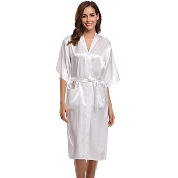 Aibrou Bata Kimono Para Mujer Larga Clásica