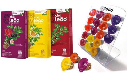Combo De Cápsulas De Chá Leão Frutas E Flores - 30 Cápsulas