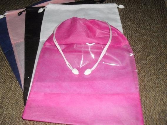 Sacos Sapato Tnt Visor Cristal 10 Unidades Pink