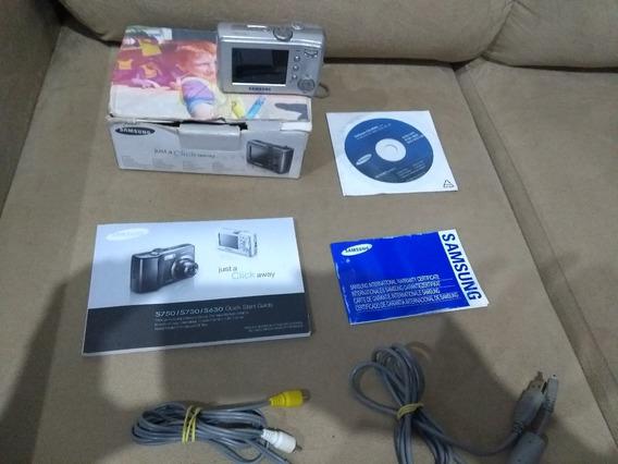 Câmera Samsung S730 7.2mp Tela 2,5 Perfeito Estado Caixa