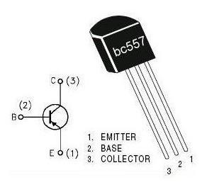 Transistor Bc 557 Pnp Lote 10 Peças