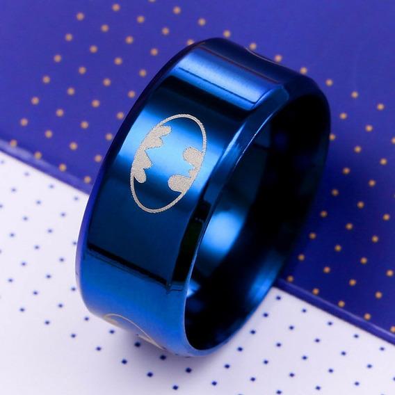 Anel De Titanio Batman Azul ( 22.7mm ) Nº 31