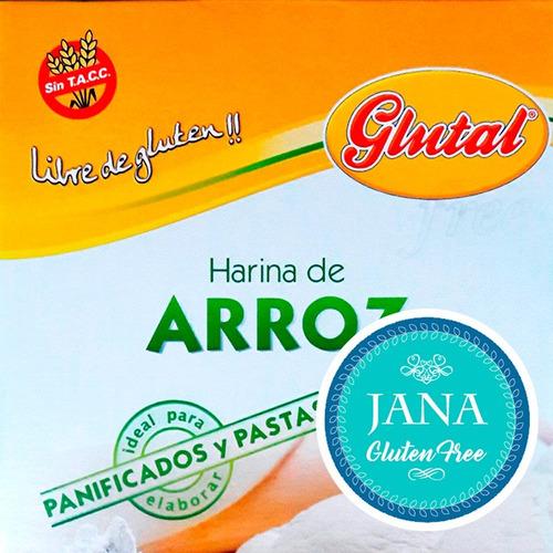 Harina De Arroz En Caja Glutal Libre De Gluten Apto J G F