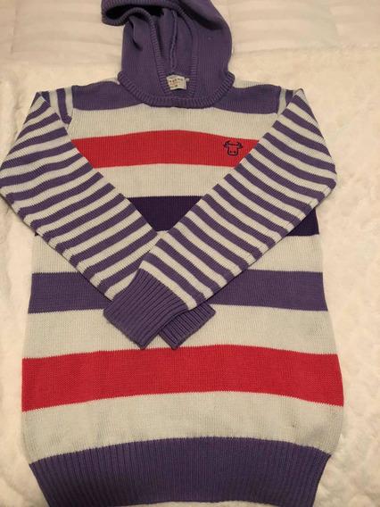 Sweater Con Capucha Rayado Giordano
