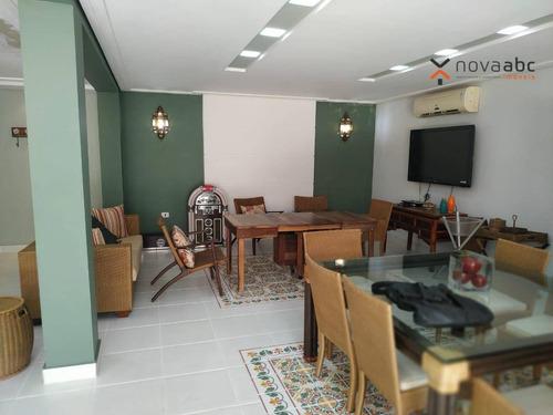 Sobrado Para Alugar, 247 M² Por R$ 8.000,00/mês - Jardim - Santo André/sp - So0459