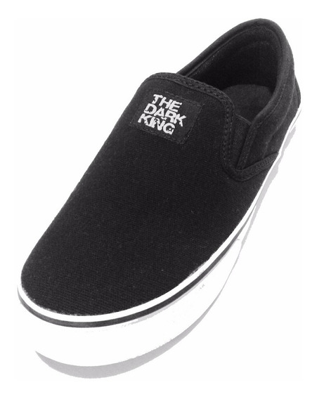 Panchas Unisex De Lona Negro Liso The Dark King