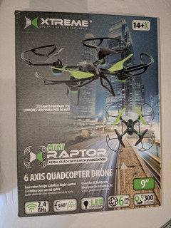 Dron Xtreme Mini Raptor Quad Copter 6 Axis 300 Pies