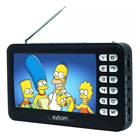 Tv Digital Portatil Recarregavel X Bom Tela 4.3