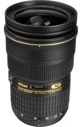 Lente Nikon Af-s Zoom 24-70mm F/2.8g Ed - Promoçao! Novo.