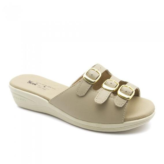 Tamanco Feminino 163 Em Couro Bege Doctor Shoes