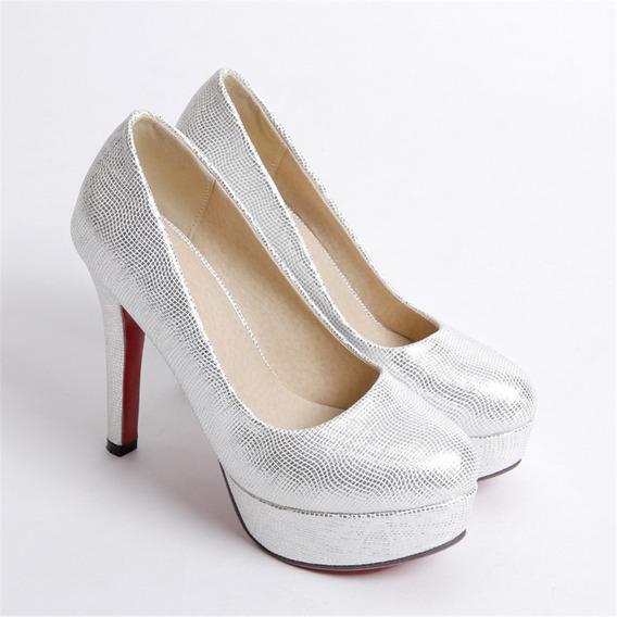 Señorita Zapatos A16 Ronda Cabeza Delgado Y Elegante Solo Z