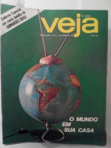 Revista Veja 26 Cachoeira Bahia Vw 1600 Televisão Lua 1969