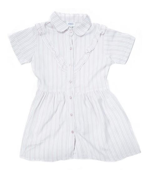 Vestido Niña Infantil Blanco Verano Casual