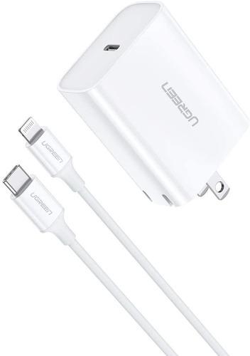 Cargador Ugreen Usb C 18 W Lightning A Usb C Pd Para iPhone