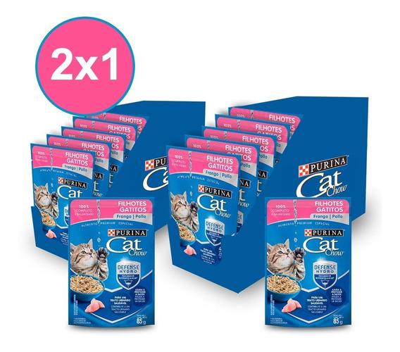 Alimento Húmedo Cat Chow® Gatitos Sabor Pollo 15x85gr (2x1)