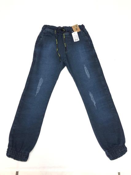 Calça Jogger Jeans Menino Infantil Ref:2249-f