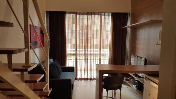 Brooklin - Apartamento Para Longa Permanência 01 Dt Duplex - Lindo ! - Fl4967