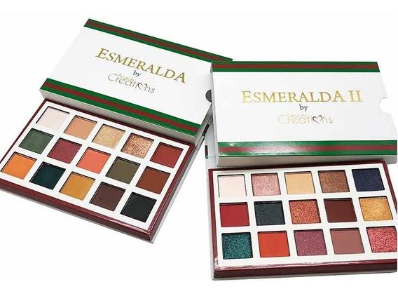 2 Paletas De Sombras Esmeralda 1 Y Esmeralda 2 Originales