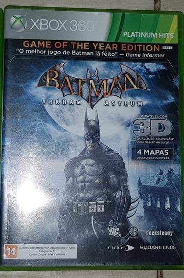 Batman Arkham Asylum Goty Xbox 360 Jogo Original