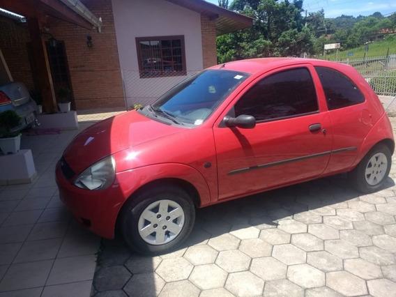 Ford Ka Gl 1.0 2007 Vermelho