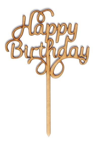 Letrero Para Pastel Cake Topper Feliz Cumpleaños Felicidades