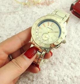 Relógio Feminino S. Pandora Dourado Disponível Pronta Entre