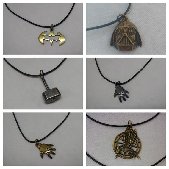 Colar Unissex Herois, Homem De Ferro, Thor, Batman,darth Vad