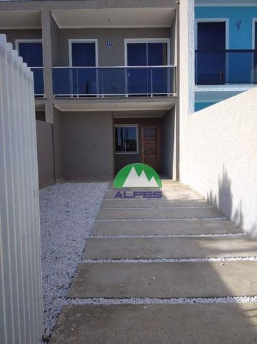 Sobrado Com 2 Dormitórios À Venda, 64 M² Por R$ 260.000,00 - Sítio Cercado - Curitiba/pr - So1389