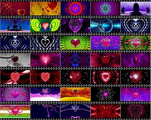 Corações - 406 Loops Efeitos Resolume Grand Vj Painel De Led