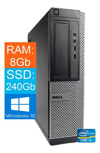 Imagem 1 de 3 de Cpu Desktop Dell Core-i5 3.2ghz 8gb Ssd 240gb Win10