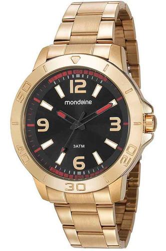 Imagem 1 de 3 de Relógio Masculino Analógico Mondaine Dourado 99351gpmvde2