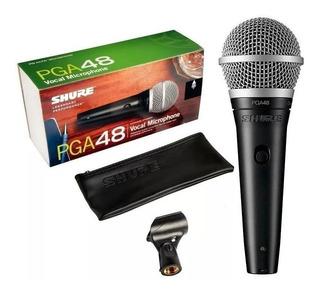 Microfone Shure Pga48 Pga 48lc Nota Fiscal 2 Anos Garantia