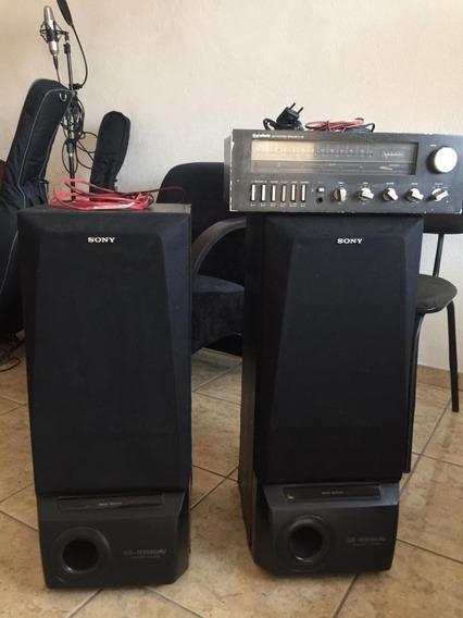 Gradiente Am Fm Stereo Receiver S-126 Vintage C/ 2 Cxs Sony