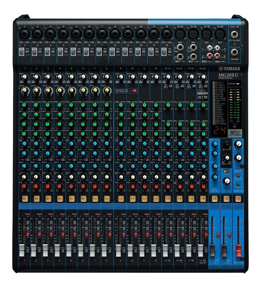 Mesa De Som Yamaha 20 Canais Mg20xu Usb C/efeito Mg 20xu
