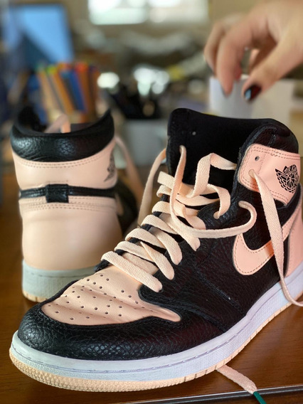 Tênis Nike Air Jordan 1, Crimson Tint. Tam. 39