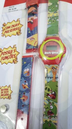 Imagem 1 de 5 de Relógio Infantil Angry Birds Troca Pulseira